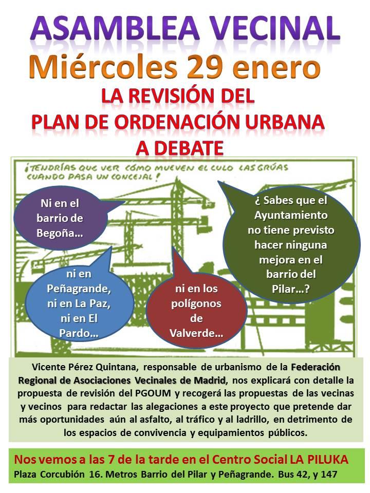 Las aavv del distrito organizamos una asamblea vecinal para debatir sobre cómo afectará o no y en qué medida al distrito y a la ciudad, la revisión del Plan de […]