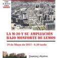 4º Encuentro sobre la Historia del Barrio del Pilar La M-30 y su ampliación bajo Monforte de Lemos 19 de mayo de 2017 a las 6,30  Organiza y realiza: […]