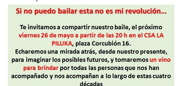 Recuerdo a todas las personas Pilukeras que mañana, viernes 26 de mayo, a las 8 de la tarde, os esperamos en la Piluka para la primera celebración del 40 cumpleaños […]
