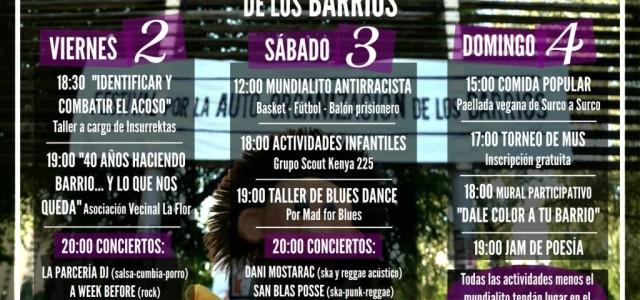 """Distintas asociaciones y vecinxs del Barrio del Pilar queremos invitaros a participar en el """"XI Festival por la Autoorganización de los Barrios"""" que tendrá lugar los días 1, 2, 3, […]"""