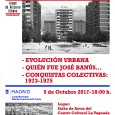 El lunes día 9de octubrede 2017 a las18:00iniciamos un nuevo ciclo sobre la historia del Barrio del Pilarque tendrá lugar en elCC La Vaguada.  Primer encuentro: -Evolución Urbana -Quién […]