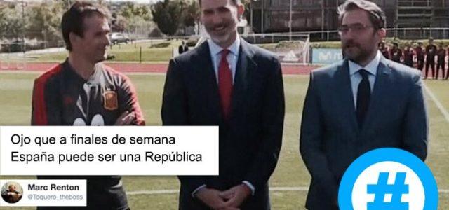 Ala, cuando ya pensábamos que la selección española era el único remanso de paz… Me encanta!! Todo patas arriba!! Y creeis que estamos paradic@s l@s vasc@s…Lopetegi la selección, Urdangarin la […]