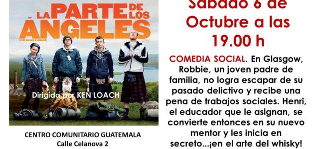 + SABADO 6 de octubre a las 19:00 Cineforum: La parte de los angeles. Ken Loach Robbie es un joven padre primerizo de Glasgow que no logra escapar de su […]