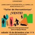 """+ SÁBADO 15 de diciembre a las 11:00 hs en el """"Taller de herramientas""""se reflexionará sobre el espacio intergeneracional, qué sería, qué se podríahacer, para qué lo construirías… Os esperamos […]"""