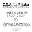 Todas las tardes, de 17,30 a 21,30, La Piluka está abierta y más que abierta! Ven a hacer los deberes, a estudiar, a tomarte algo calentito, a pasar la tarde… […]