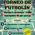 Animaros a participar en el ya clásico torneo de futbolín ?de La Piluka. (La inscripción incluye consumición y partidas). Os esperamos! ?