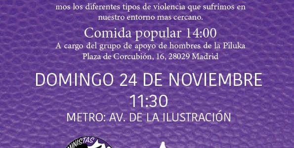 Con motivo del Día Internacional de la Eliminación de la Violencia contra la Mujer las compañeras FEMINISTAS DE LOS BARRIOS FEP queremos denunciar los diferentes tipos de violencia que sufrimos […]