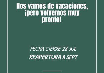 La Tienda Gratis cierra entre el 28 de julio y 8 de septiembre. El 8 de septiembre será el primer día de la reapertura post-verano. Un abrazo a tod@s!!!