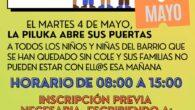El próximo MARTES 4 de MAYO, NO HAY CLASE porque los colegios serán utilizados para las elecciones. Desde el Centro Social Autogestionado La Piluka hemos organizado una guardería para que […]