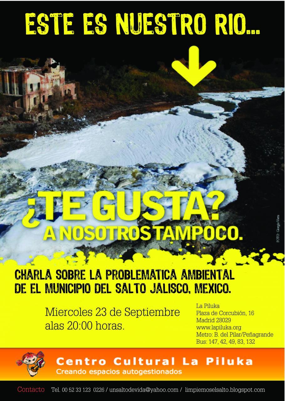 Charla sobre contaminacion Ambiental Municipio Salto /Jalisco. Mexico