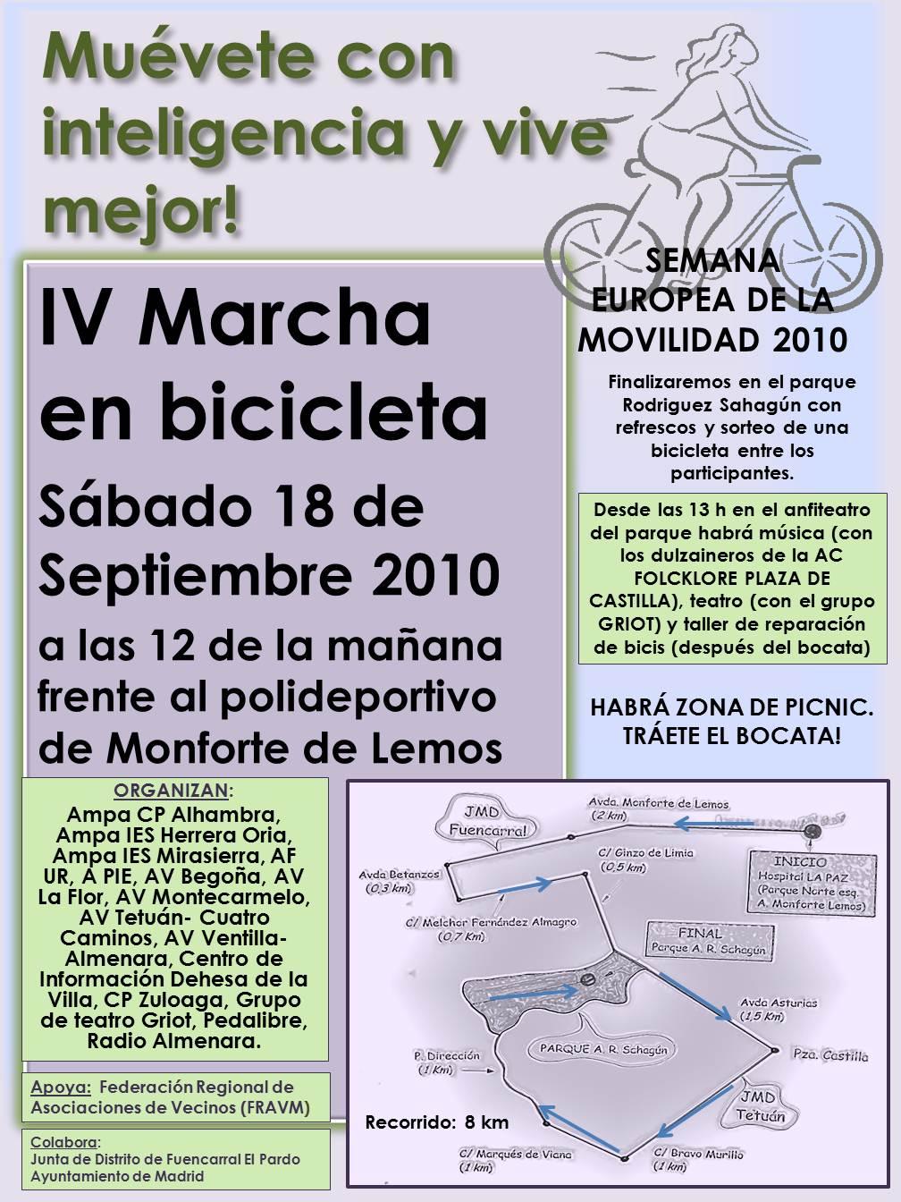 MUÉVETE CON INTELIGENCIA Y VIVE MEJOR es el lema de la IV Marcha Ciclista que tendrá lugar el próximo sábado 18 de septiembre en el marco de la Semana Europea […]
